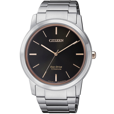 CITIZEN 星辰 GENT簡約時尚鈦金屬腕錶(AW2024-81E)-40mm