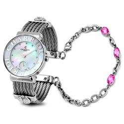 CHARRIOL NEW夏利豪銀色可拆式寶石鎖鍊錶-30mm