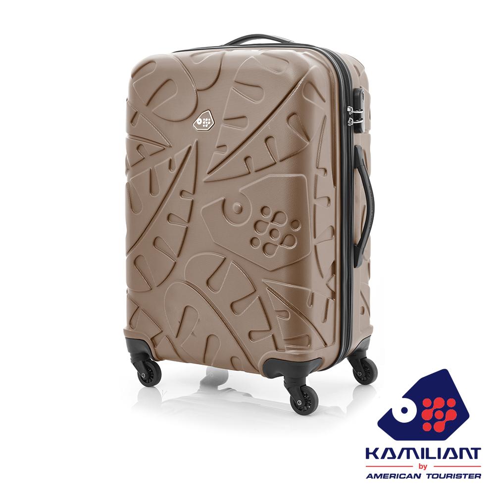 Kamiliant卡米龍 24吋Pinnado立體羽毛圖騰防刮四輪硬殼TSA行李箱(咖啡)