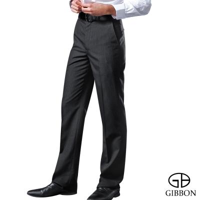 GIBBON 簡約直紋平口西裝褲‧深灰31-42