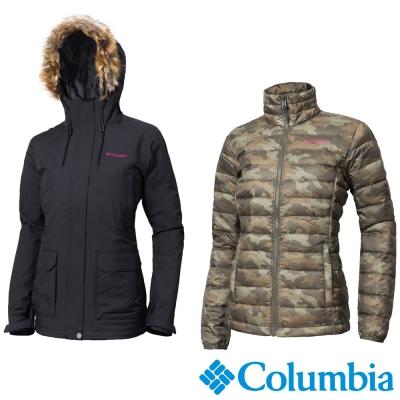 Columbia哥倫比亞  女款-防水羽絨兩件式外套-黑色 UWK00540BK