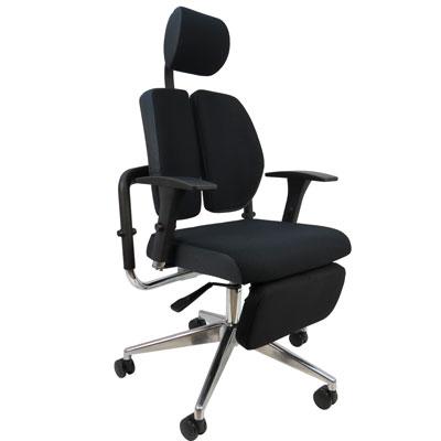 Design人體工學林肯坐臥2用雙背護腰機能電腦椅/辦公椅