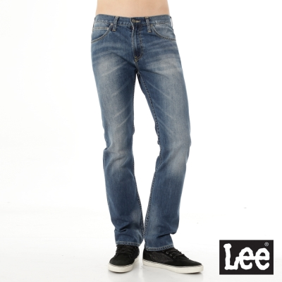 Lee 牛仔褲 Main line 724 中腰標準直筒-男款(中漂藍)