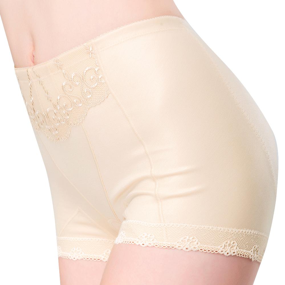 思薇爾 輕機能棉質64-76高腰四角束褲(榛果膚)