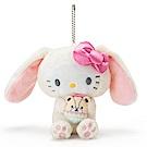 Sanrio HELLO KITTY裝扮長耳兔造型玩偶吊鍊(好朋友彩蛋)