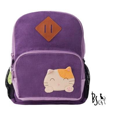 ABS貝斯貓 可愛貓咪手工拼布小型後背包 (紫) 88-211