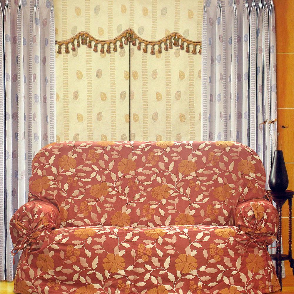 布安於室-大紅花緹花布便利套1人座
