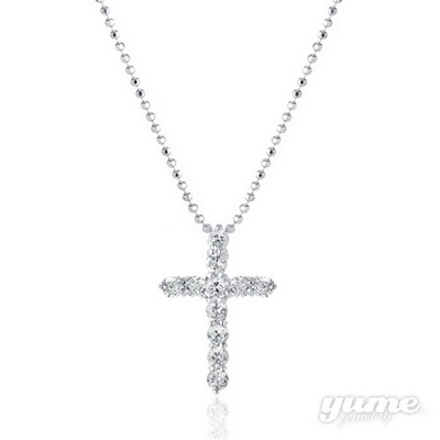 【YUME】十字鑲鑽項鍊