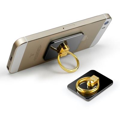手機/平板專用 360度旋轉金屬鏡面指環支架