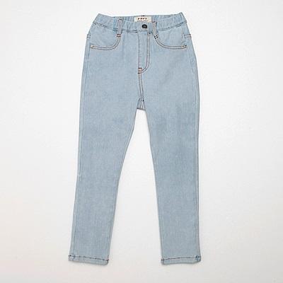 PIPPY 針織舒適薄牛仔長褲 水