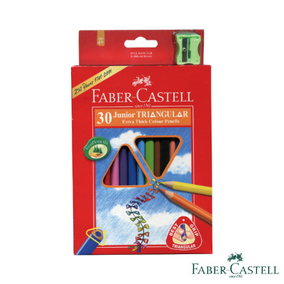 Faber-Castell紅色系大三角彩色鉛筆 3.3 mm 30色