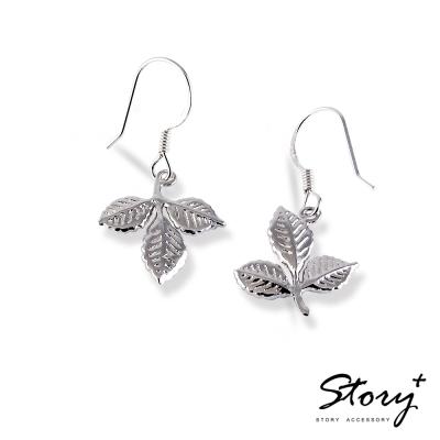 STORY故事銀飾-葉子 925純銀耳環