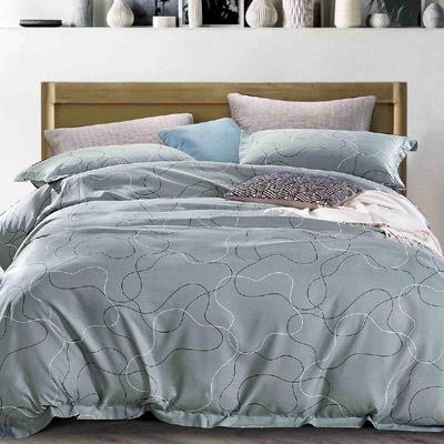 Saint Rose 律動 加大吸濕排汗天絲兩用被套床包四件組