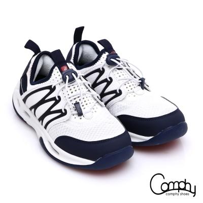 Comphy 羽量抗菌 彈力繩耐磨止滑休閒鞋 白色
