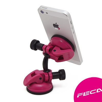 FECA非卡 無痕強力吸盤 360度旋轉萬用支架 桃紅