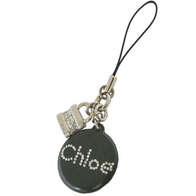 CHLOE 新款 7HMS817H750 亮麗水鑽鎖頭手機吊飾