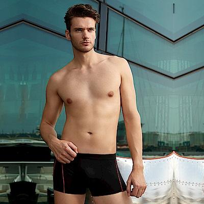 DAYNEER  時尚貼身系列-素面貼身四角褲(黑)