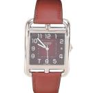 HERMES Cape Cod 愛馬仕小牛皮鋼框女仕腕錶錶(棕/33mm)