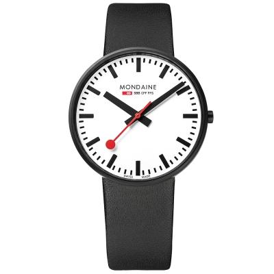 MONDAINE 瑞士國鐵Giant大錶面限量腕錶/42mm-黑框