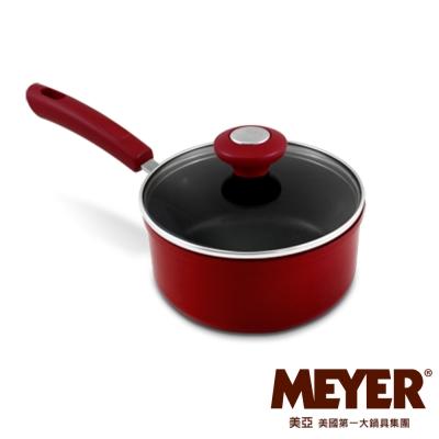 MEYER-美國美亞義大利紅耐磨不沾單柄湯鍋16CM-含蓋