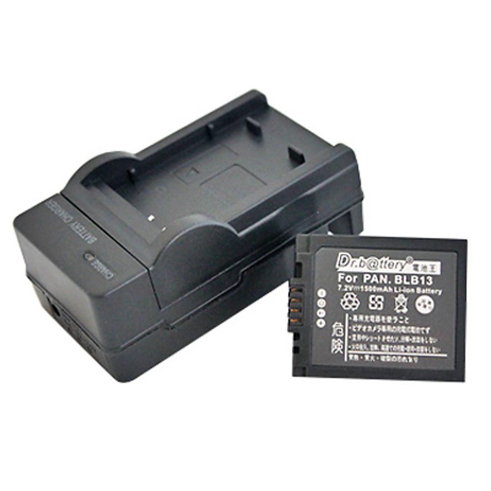 電池王 For Panasonic DMW-BLB13 高容量鋰電池+充電器組