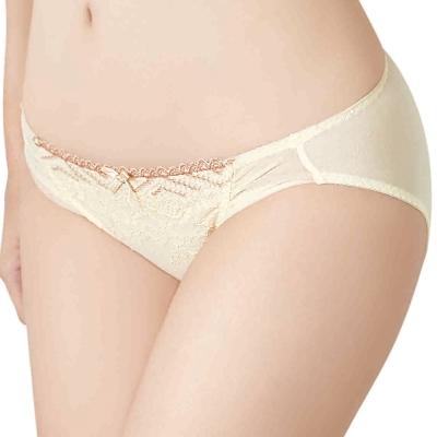 思薇爾 撩波系列M-XXL蕾絲低腰三角內褲(暖洋黃)