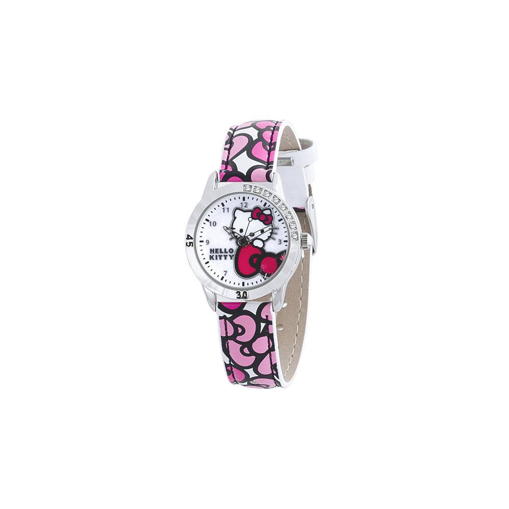 Hello Kitty 可愛教主個性腕錶-白/28mm