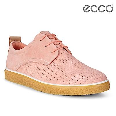 ECCO CREPETRAY LADIES 女 蜜糖牛奶粉嫩休閒鞋-粉