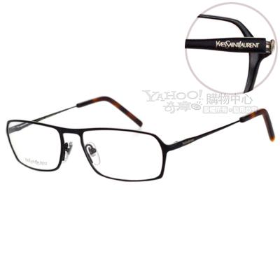 YSL-時尚光學眼鏡 (黑色/金色)