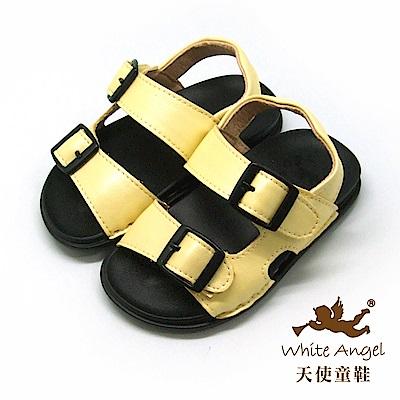 天使童鞋 馬卡龍輕巧穿涼鞋(小童)C295-黃