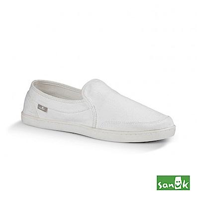 SANUK 復古水洗帆布休閒鞋-女款(白色)