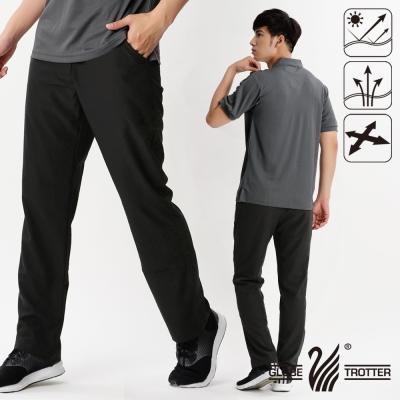 【遊遍天下】男款涼爽超顯瘦彈性吸濕排汗抗UV長褲P131深咖