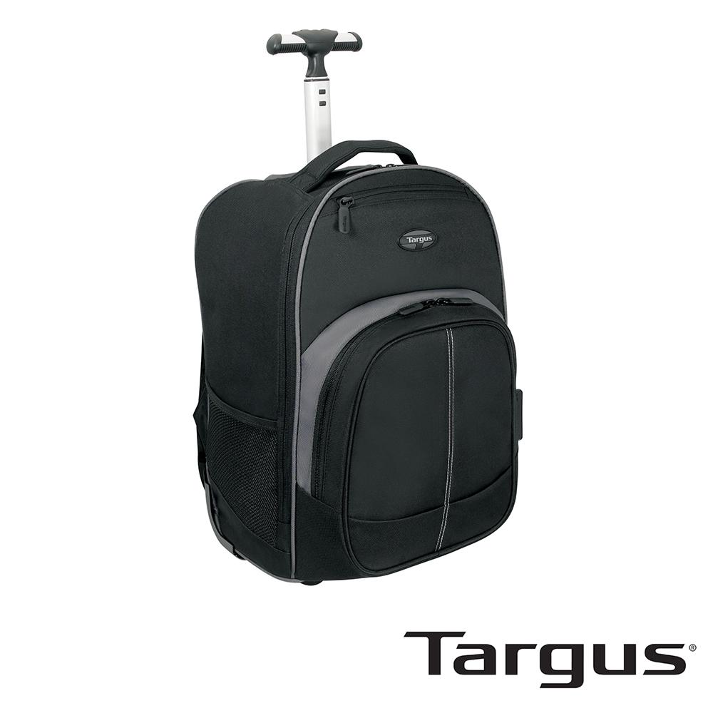 Targus Compact 16 吋拉桿電腦後背包-黑灰款