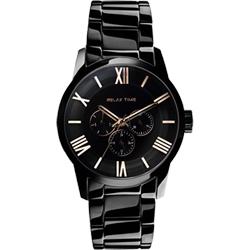 RELAX TIME RT65 羅馬情人日曆腕錶-玫瑰金時標x黑/38mm