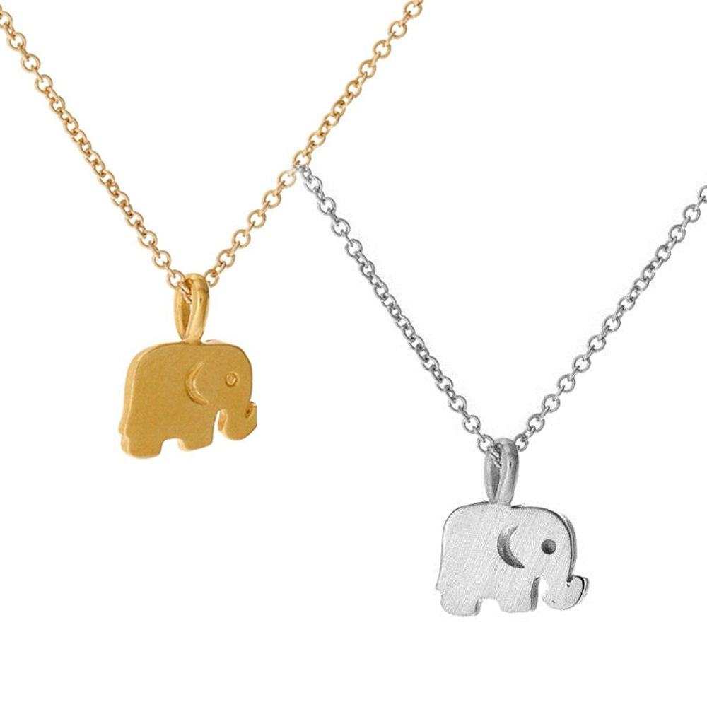 Dogeared 大象 ELEPHANT 好運健康 金色 銀色 許願項鍊套組 附原廠盒 @ Y!購物
