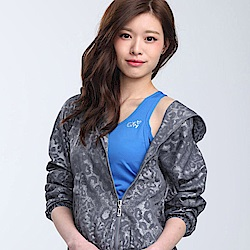 【TOP GIRL】色彩豹紋風衣外套-灰色