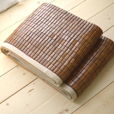 絲薇諾 涼蓆 加大6尺 淺色邊 3D透氣包邊炭化專利麻將涼蓆 竹蓆