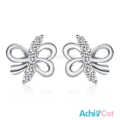 AchiCat 925純銀耳環 浪漫結緣