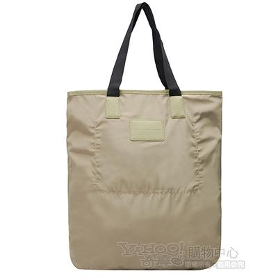 MARC BY MARC JACOBS 簡約休閒雙色肩背購物包(卡其X黑)