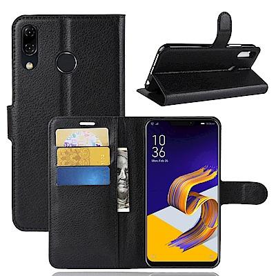 PKG ASUS Zenfone5 2018 側翻式皮套-經典系列-黑