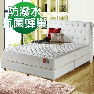 MG珍寶-3M防潑水抗菌-蜂巢獨立筒床墊-雙人加大6尺