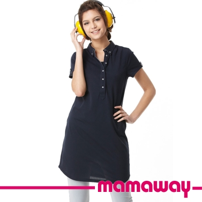 Mamaway DRY哺乳衣長版POLO(共三色)