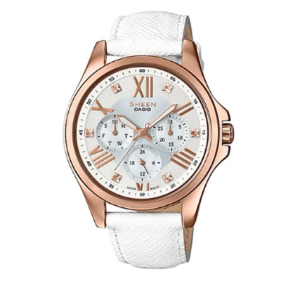 SHEEN羅馬時刻SWAROVSKI簡單俐落皮帶腕錶(SHE-3806GL-7A)-39mm