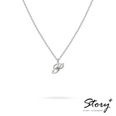 STORY ACCESSORY-字母系列-字母P 純銀項鍊