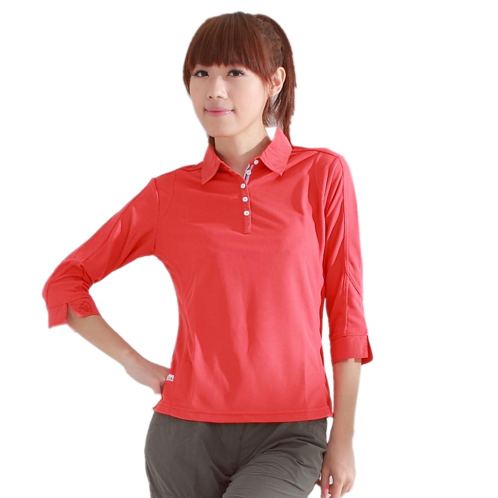 CARAVA 《女款快速排汗七分袖T 恤》(大紅)