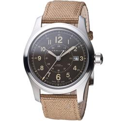 Hamilton 漢米爾頓   Khaki Field系列戶外探險者腕錶-咖啡/42mm