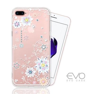 EVO CASE IPhone 7 Plus奧地利水晶彩繪防摔手機鑽殼-冰花