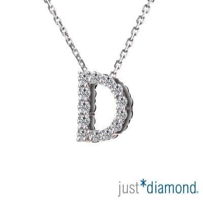 Just Diamond Love Words系列18K金鑽石墜子-D