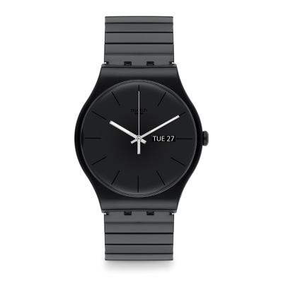 Swatch 原創系列 MYSTERY LIFE S 神秘黑色手錶