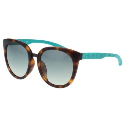 Calvin Klein- 時尚復古太陽眼鏡(琥珀色)